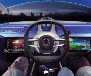 """Futuristinė vairo koncepcija pagal """"TRW"""""""
