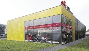 """Naujas įmonės """"Eoltas"""" prekybos centras Telšiuose"""