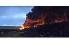 Nelegalaus padangų sandėlio gaisras Ispanijoje