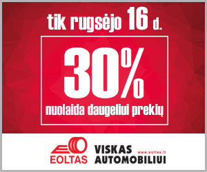"""Įmonės """"Eoltas"""" parduotuvėse 30 % nuolaida daugeliui prekių"""