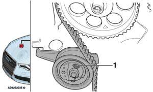 Audi A3: variklio skyriaus spiegimo atgarsis veikiant tuščiąja eiga