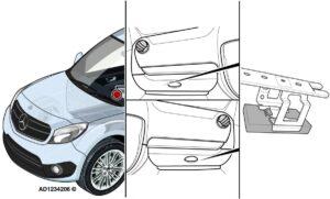 """""""Mercedes-Benz Citan"""": sugedęs apšvietimas, posūkio rodikliai ir garso signalizavimas"""